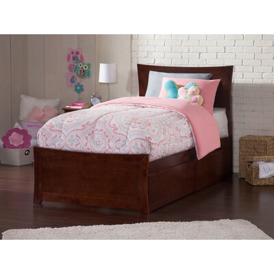 Ahmed Storage Platform Bed Color: Antique Walnut, Size: Twin