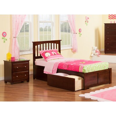 Pauline Platform 2 Piece Bedroom Set Color: Antique Walnut, Bed Size: Full