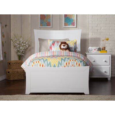 Ahmed Panel Bed Color: White, Size: Twin