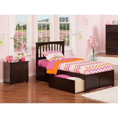 Pauline Platform 2 Piece Bedroom Set Color: Espresso, Bed Size: Twin
