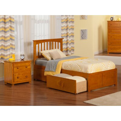 Pauline Platform 2 Piece Bedroom Set Color: Caramel Latte, Bed Size: Full