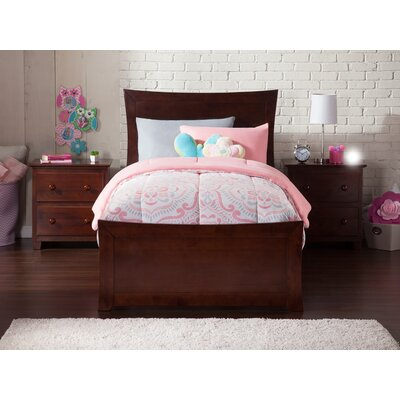 Ahmed Panel Bed Color: Antique Walnut, Size: Twin