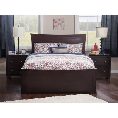 Ahmed Panel Bed Color: Espresso, Size: Queen