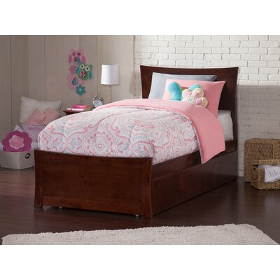 Ahmed Storage Panel Bed Color: Antique Walnut, Size: Twin