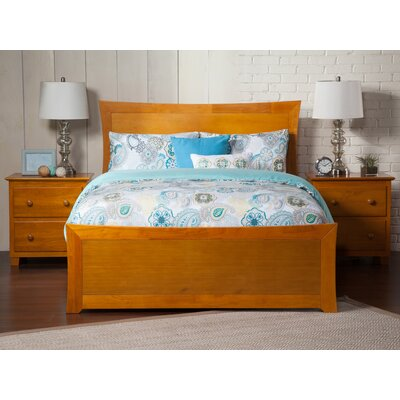 Ahmed Panel Bed Color: Caramel Latte, Size: Queen