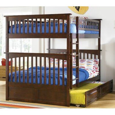 Atlantic Columbia Bunk Bed with Trundle Bed - Configuration: Full over Full, Finish: Antique Walnut at Sears.com