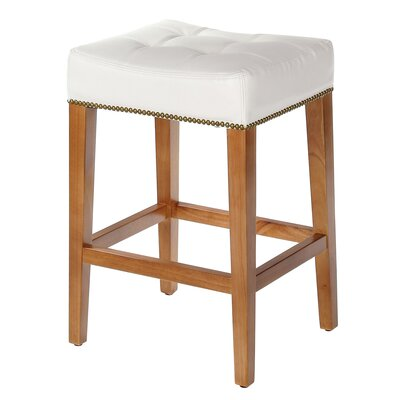 Sydenham Bar Stool Seat Height: 26, Upholstery: White