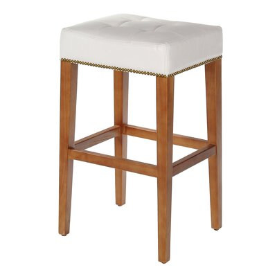 Sydenham Bar Stool Seat Height: 30, Upholstery: White