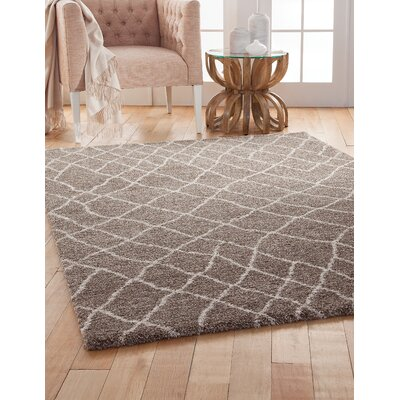 Haverstraw Brown/Ivory Area Rug Rug Size: 53 x 76