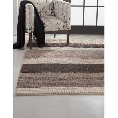Lodi Brown/Tan Stripe Area Rug Rug Size: 5 x 8