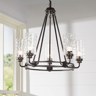 Calumet 5-Light Candle-Style Chandelier Finish: Old English Bronze