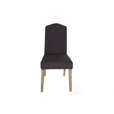 Avila  Side Chair (Set of 2) Finish: Charcoal