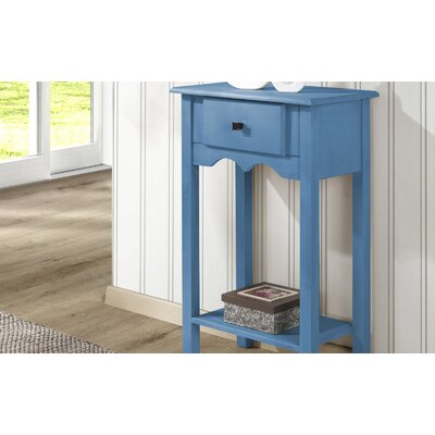 Pinard End Table Color: Blue Wash