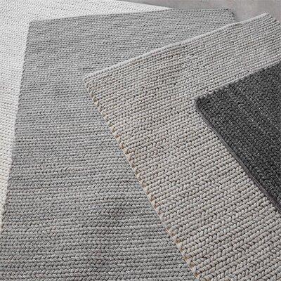 Raven Hand-Woven Wool Gray Area Rug Rug Size: 8 x 10