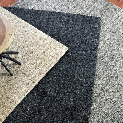 Peyton Hand-Woven Wool Gray Area Rug Rug Size: 8 x 10