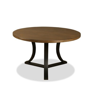 Louisa Rounded Wood Dining Table Finish: Dry Smoke