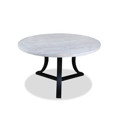 Louisa Rounded Wood Dining Table Finish: Dry White