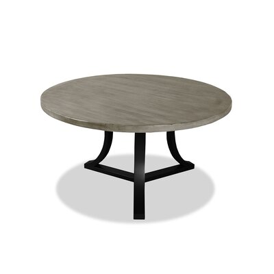 Louisa Rounded Wood Dining Table Finish: Dry Cement