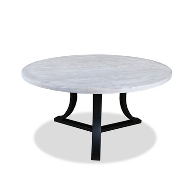 Louisa Modern Rounded Dining Table Finish: Dry White