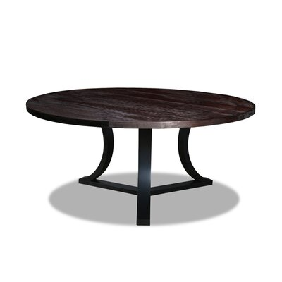 Louisa Modern Rounded Wood Dining Table Finish: Dry Espresso