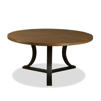 Louisa Modern Rounded Wood Dining Table Finish: Dry Smoke