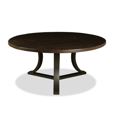 Louisa Modern Rounded Wood Dining Table Finish: Dry Walnut