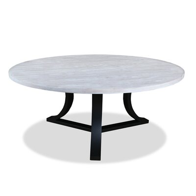 Louisa Rounded Dining Table Finish: Dry White