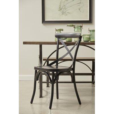 Bendigo Distressed Antique Metal Dining Chair Finish: Black