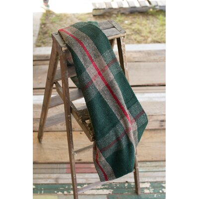 Higgins Plaid Universal Blanket Color: Red/Green