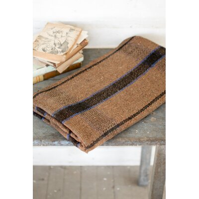 Higgins Plaid Universal Blanket Color: Brown/Blue