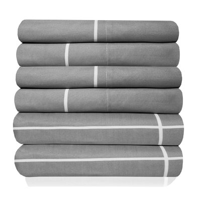 Pavot Egyptian Quality Window Pane Microfiber Sheet Set Size: Queen, Color: Gray