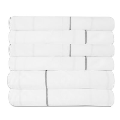 Pavot Egyptian Quality Window Pane Microfiber Sheet Set Size: California King, Color: White