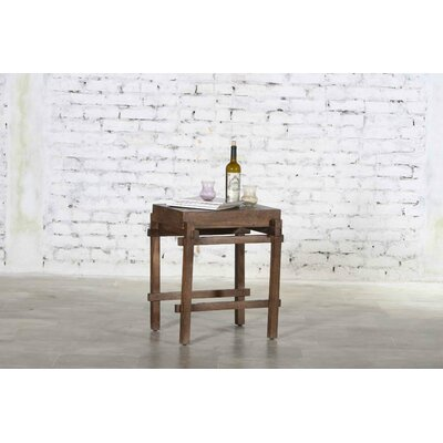 Alcera Wooden Architectural End Table