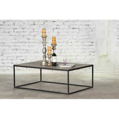 Caldina Iron and Wood Honeycomb Coffee Table