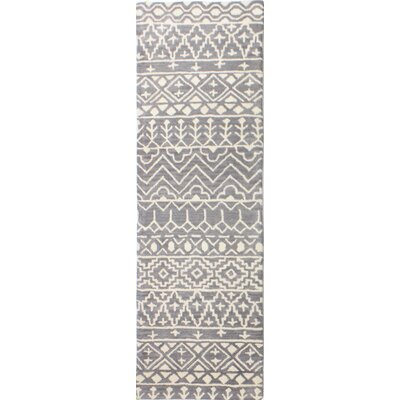 Lewiston Hand-Tufted Gray Area Rug Rug Size: Runner 26 x 8