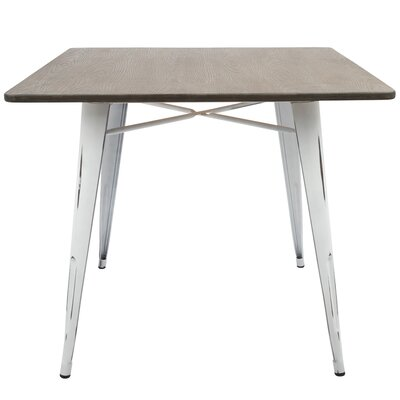 Claremont Dining Table Top Color: Espresso, Base Color: Vintage White
