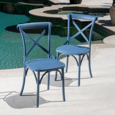 Lison Dining Chair Color: Norway Blue