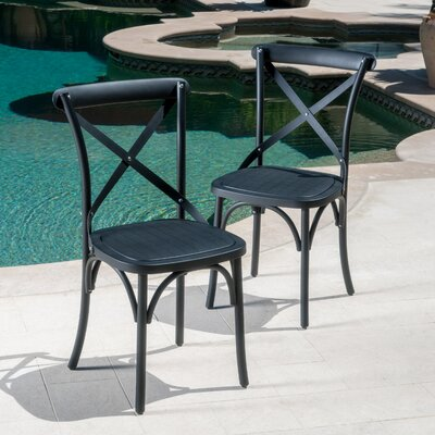 Lison Dining Chair Color: Black