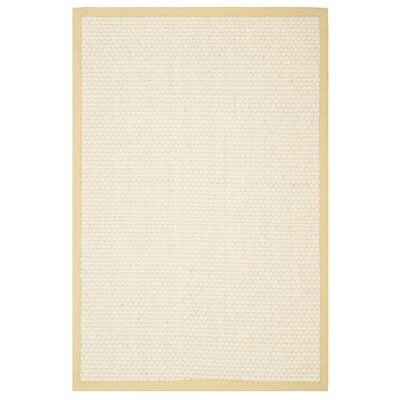 Hydetown Hand-Woven Sand Area Rug Rug Size: Rectangle 4 x 6