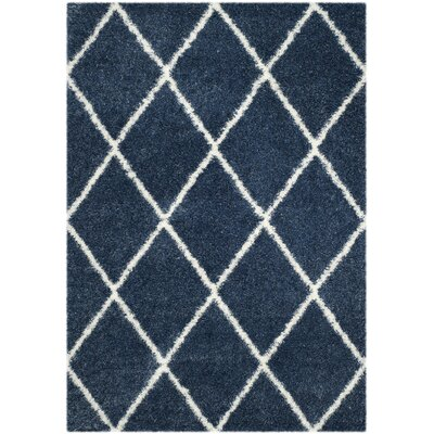 Macungie Blue Indoor Area Rug Rug Size: Rectangle 4 x 6