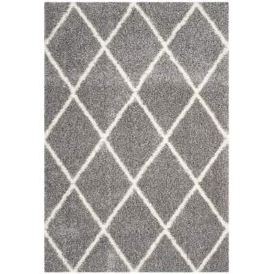 Macungie Trellis Gray Indoor Area Rug Rug Size: Rectangle 53 x 76