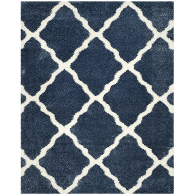 Macungie Blue / Ivory Indoor Area Rug Rug Size: Rectangle 8 x 10