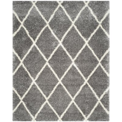 Macungie Trellis Gray Indoor Area Rug Rug Size: Rectangle 8' x 10'