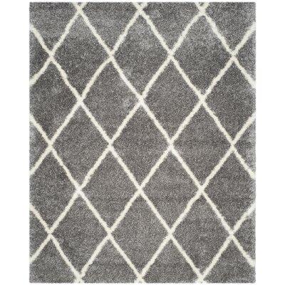 Macungie Trellis Gray Indoor Area Rug Rug Size: Rectangle 8' x 10'