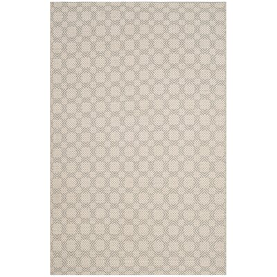 Lorain Cotton Hand-Woven Gray/Ivory Area Rug Rug Size: Rectangle 4 x 6