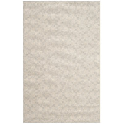 Loganville Cotton Hand-Woven Light Blue/Ivory Area Rug Rug Size: Rectangle 4 x 6