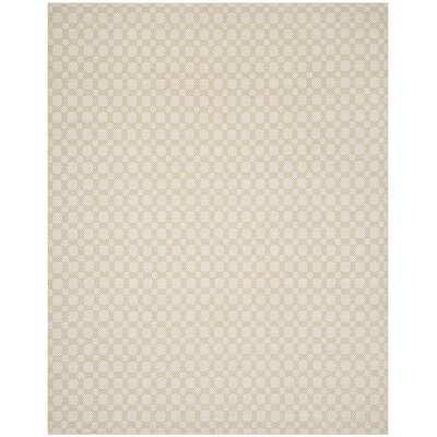 Loretto Cotton Hand-Woven Beige/Ivory Area Rug Rug Size: Rectangle 8 x 10