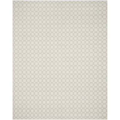 Lorain Cotton Hand-Woven Gray/Ivory Area Rug Rug Size: Rectangle 8 x 10