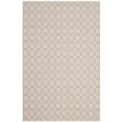 Luzerne Cotton Hand-Woven Silver/Ivory Area Rug Rug Size: Rectangle 4 x 6