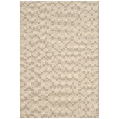 Loretto Cotton Hand-Woven Beige/Ivory Area Rug Rug Size: Rectangle 4 x 6